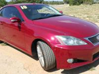 Red 2010 Lexus IS 250 C RWD 6-Speed Manual 2.5L V6 DOHC