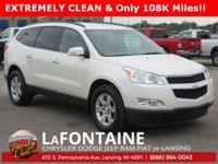 2011 Chevrolet Traverse LT 1LT White FWD Clean CARFAX.