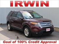3.5L V6 Ti-VCT, AWD. CARFAX One-Owner. Maroon 2011 Ford