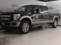 Clean CARFAX. Black 2011 Ford F-250SD 4WD TorqShift