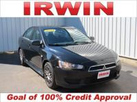 Black 2011 Mitsubishi Lancer ES FWD 5-Speed 2.0L