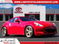 Red 2011 Nissan 370Z Touring RWD 7-Speed Automatic 3.7L