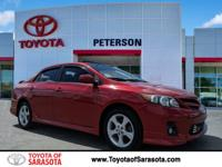 CARFAX One-Owner. Barcelona Red Metallic 2011 Toyota