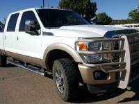 Clean CARFAX. White 2012 Ford F-250SD Lariat 4WD