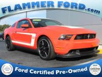 2012 Ford Mustang ** BOSS** Competition Orange **21,100
