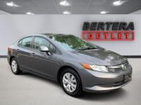2012 Honda Civic Polished Metal Metallic LX RECENT