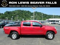 Clean CARFAX. Barcelona Red Metallic 2012 Toyota Tacoma