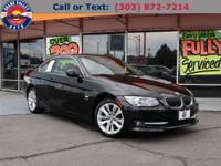 AWD.Black 2013 BMW 3 Series 328i xDrive 2D Coupe AWD