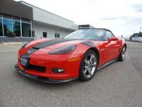 Clean CARFAX.Red 2013 Chevrolet Corvette Grand Sport 2D