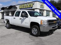 This white 2013 Chevrolet Silverado 2500 WT has RWD,
