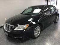 Black Clearcoat 2013 Chrysler 200 Limited FWD 6-Speed