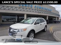 CARFAX One-Owner.2013 Ford Edge SE White Suede AWD 3.5L
