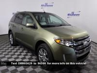Clean CARFAX. Green 2013 Ford Edge SEL FWD 6-Speed