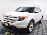 White Platinum Metallic Tri-coat SUV with a 6-Speed