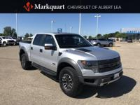 Silver 2013 Ford F-150 SVT Raptor 4WD 6-Speed Automatic