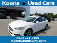 2013 Ford Fusion White Platinum Tri-Coat Metallic