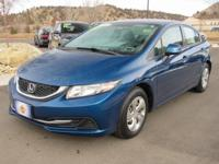 Blue 2013 Honda Civic LX FWD Compact 5-Speed Automatic
