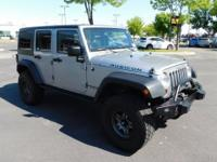 Clean CARFAX. Billet Silver Metallic 2013 Jeep Wrangler