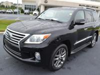 Black 2013 Lexus LX 570 4WD 6-Speed Automatic with