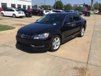 Black 2013 Volkswagen Passat TDI SE w/Sunroof Clean
