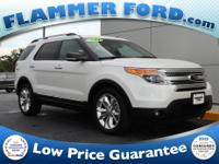 2014 Ford Explorer White Platinum Metallic Tri-Coat