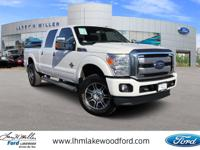 White Platinum Metallic Tri-Coat 2014 Ford F-350SD