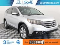 Clean CARFAX. 2014 Honda CR-V EX-L Silver Odometer is