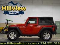 Clean CARFAX. Flame Red Clearcoat 2014 Jeep Wrangler