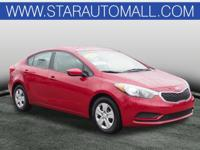 2014 Kia Forte LX LX Crimson Red CARFAX One-Owner.