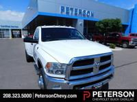 Our 2014 RAM 3500 SLT Regular Cab Dually 4X4 in White