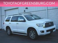Super White 2014 Toyota Sequoia Limited 4WD 6-Speed