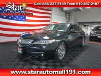 CARFAX One-Owner. Black 2015 Acura TLX 3.5L V6 SH-AWD
