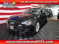 CARFAX One-Owner. Clean CARFAX. Black 2015 Audi A5 2.0T