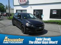Black 2015 Chevrolet Sonic LT FWD 6-Speed Automatic