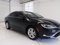 Black Clearcoat 2015 Chrysler 200 Limited FWD 9-Speed