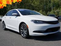 Clean CARFAX. 2015 Chrysler 200 S Well equipped with,