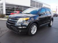 Black 2015 Ford Explorer XLT AWD 6-Speed Automatic with