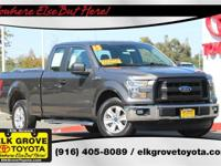 Gray 2015 Super Cab Ford F-150 XL 19/26 City/Highway