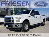 White 2015 Ford F-150 XLT Clean CARFAX. Odometer is