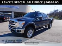 Clean CARFAX.2015 Ford F-350SD Lariat Blue Jeans