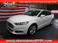 CARFAX One-Owner. White 2015 Ford Fusion Energi