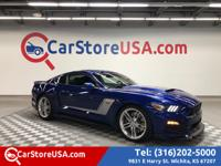 Clean CARFAX. Blue 2015 Ford Mustang GT Premium Roush