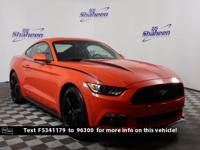 Clean CARFAX. Competition Orange 2015 Ford Mustang