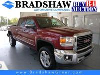 Sonoma Red Metallic 2015 GMC Sierra 2500HD SLT CARFAX