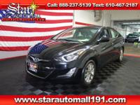 CARFAX One-Owner. Black 2015 Hyundai Elantra Limited