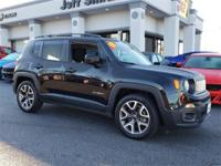 Clean CARFAX. Black 2015 Jeep Renegade Latitude FWD