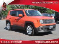 2015 Jeep Renegade Latitude Orange Latitude Clean
