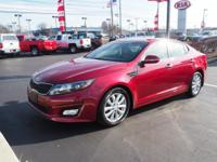 Red Metallic 2015 Kia Optima EX FWD 6-Speed Automatic