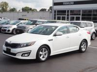 Snow White Pearl 2015 Kia Optima LX FWD 6-Speed