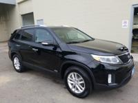 Black 2015 Kia Sorento LX AWD 6-Speed Automatic with